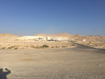 We passed several gypsum mines and factories on the early part of the climb