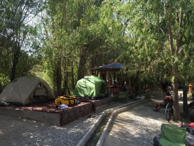 Our rather relaxing riverside camp