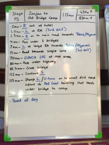 Stage 95 route notes