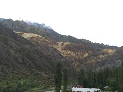 An interesting coloured hillside
