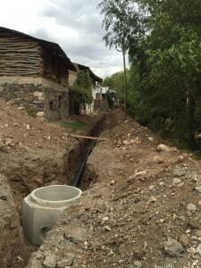 A sewer system comes to Çatakbahçe
