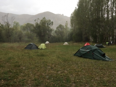 A damp and misty camp