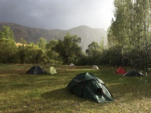 Camp in the sun and the rain