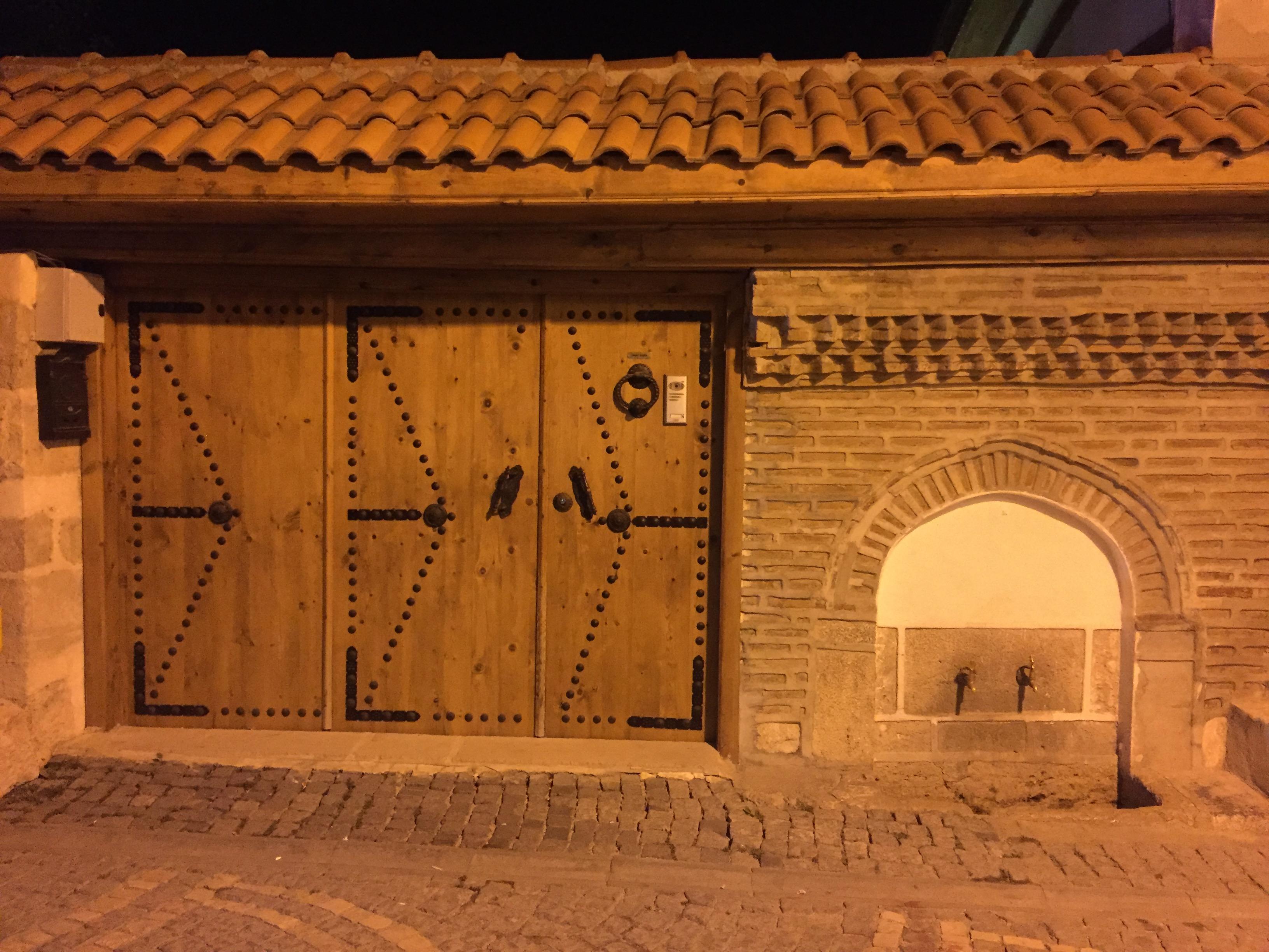 Night-time doorway