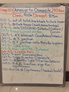 Stage 110 route notes