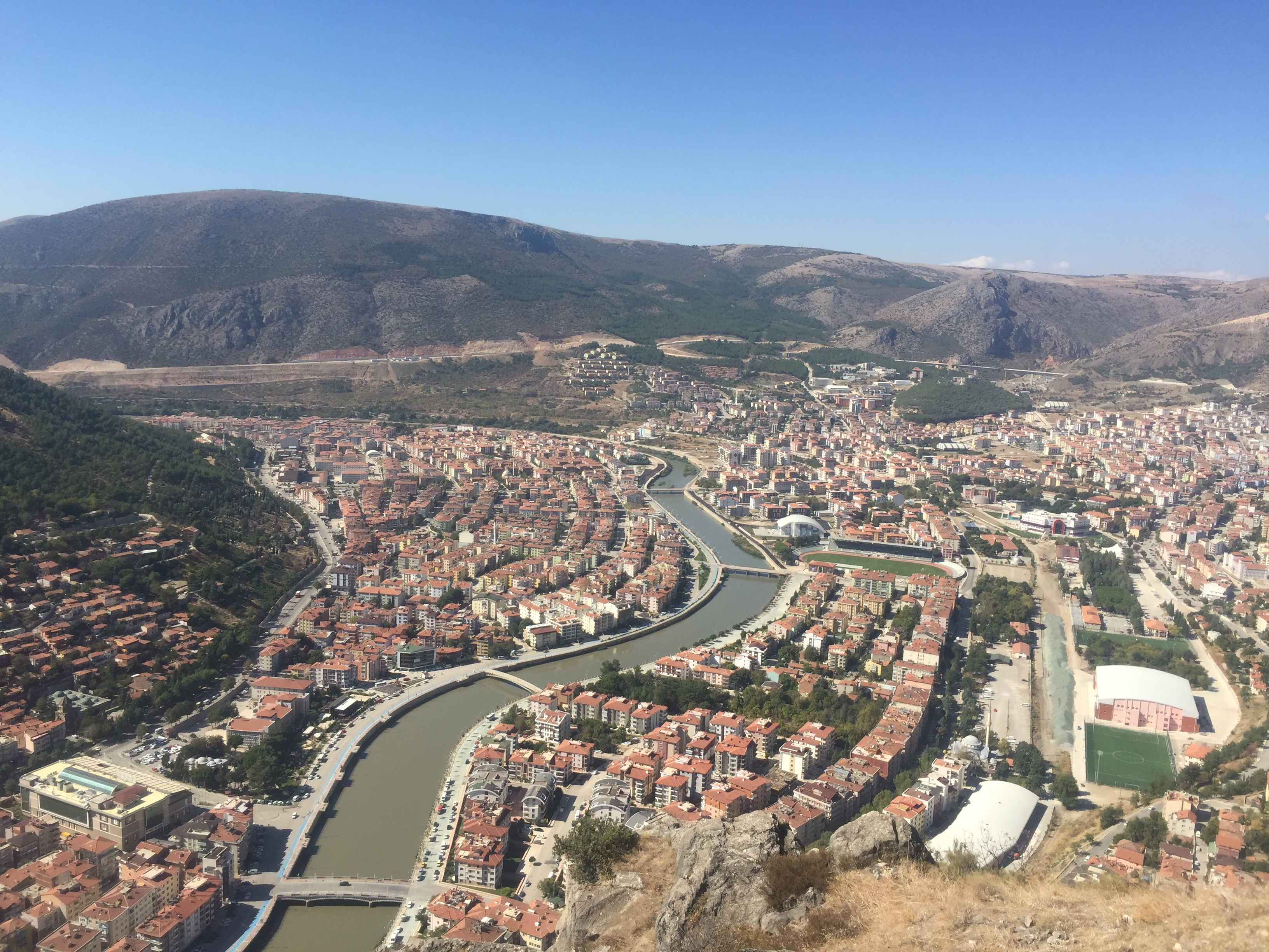 Amasya from the castle