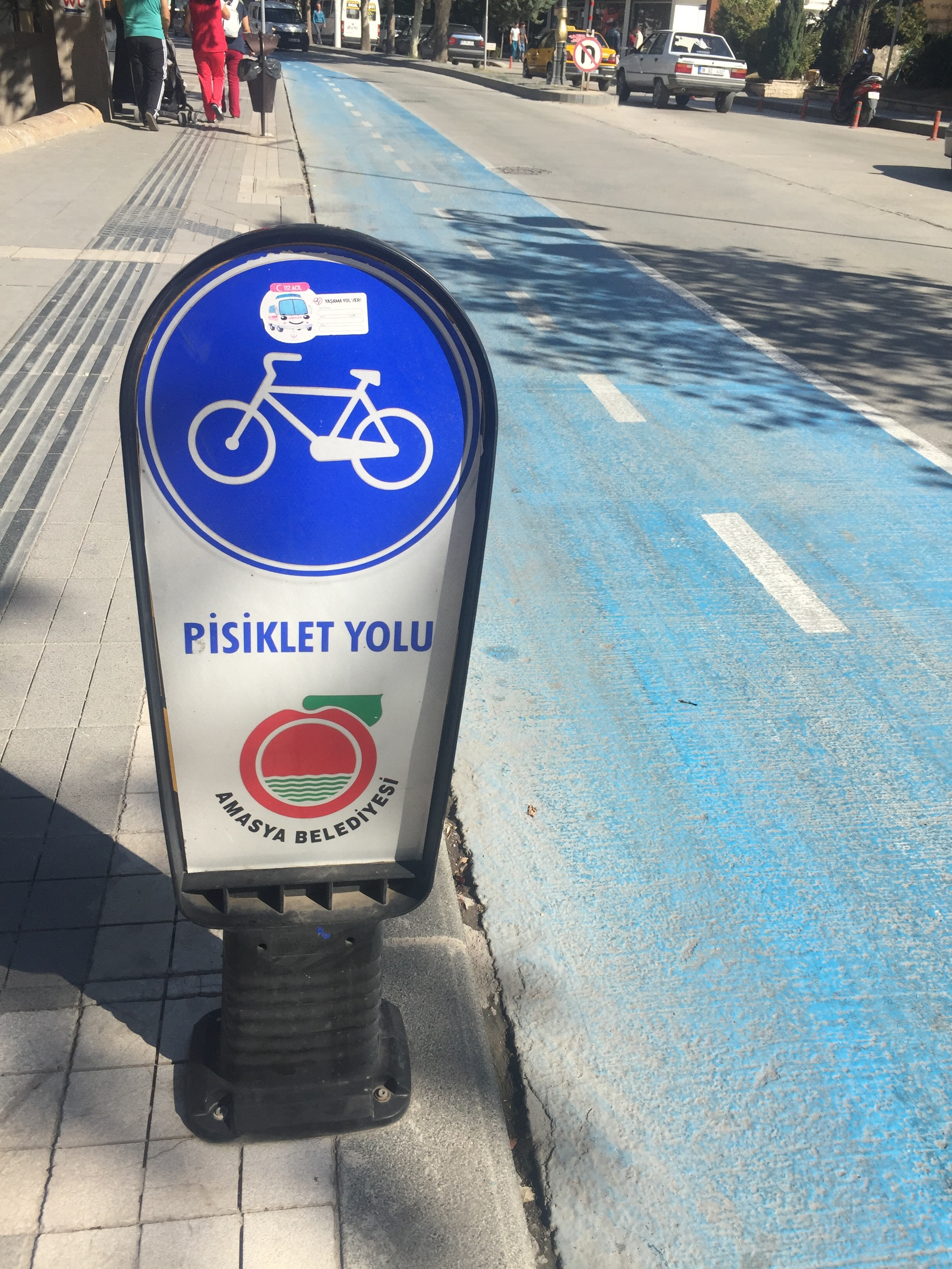 They actually have a bike lane here!