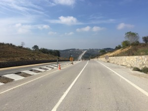 2km of brand new dual carriage way